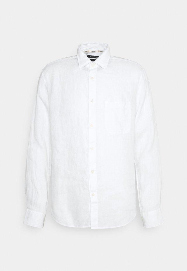 KENT COLLAR LONG SLEEVE INSERTED - Shirt - white