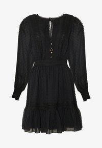 LAYLA SPLICED DOBBY DRESS - Vestito estivo - black