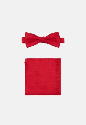 ONSTANNER BOW TIE BOX SET - Pocket square - pompeian red