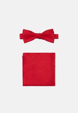 ONSTANNER BOW TIE BOX SET - Pañuelo de bolsillo - pompeian red