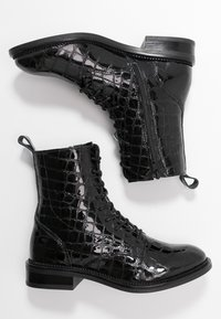 Zign - Cowboy/biker ankle boot - black - 3