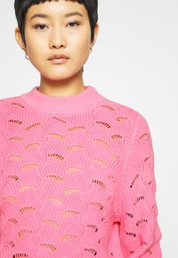 Selected Femme - SLFEVALINE  O NECK - Strickpullover - rosebloom