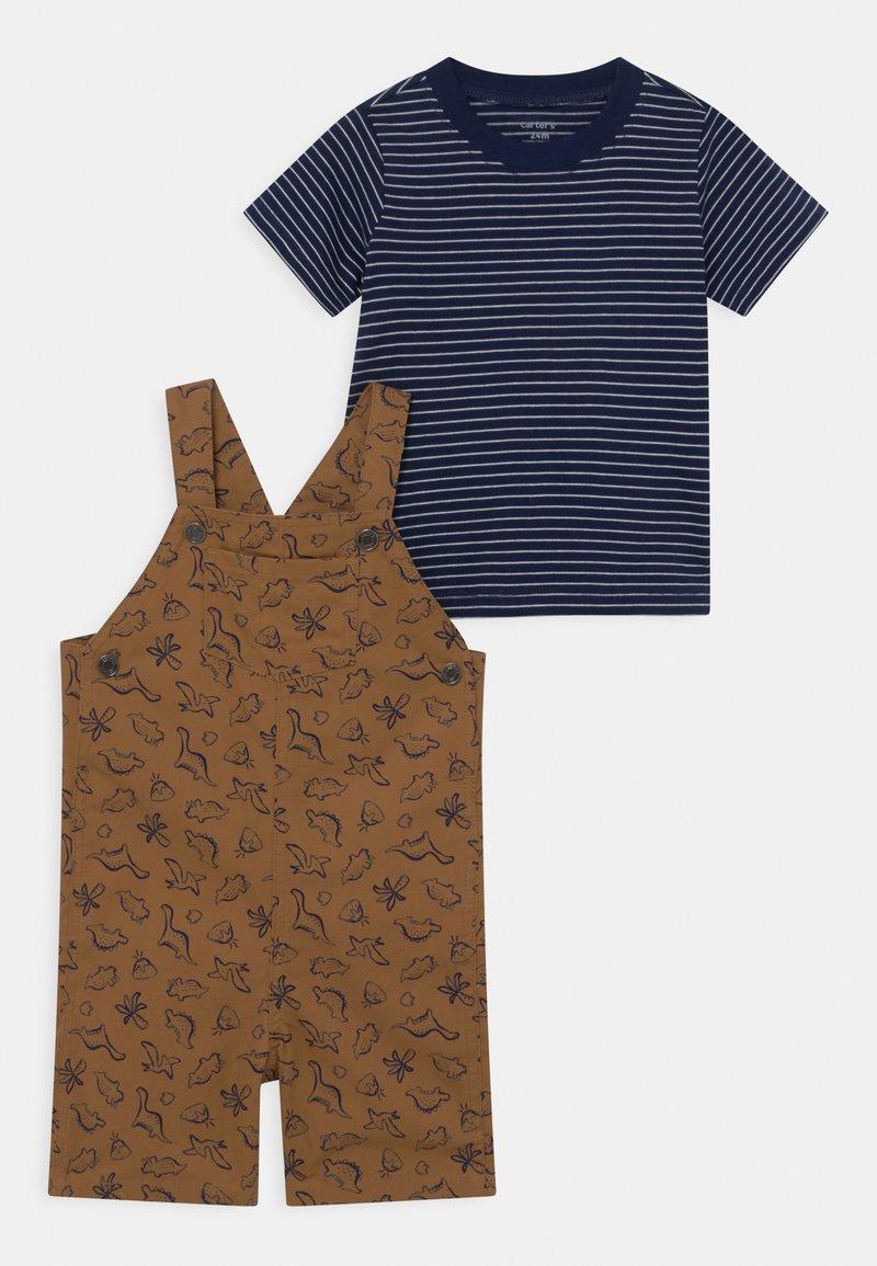 Carter's - SHORTALL TAN SET - Print T-shirt - beige