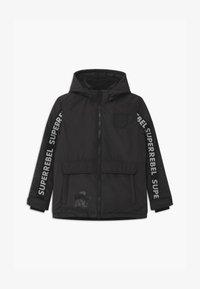 SuperRebel - SUSTAINABLE FASHION SPORTY PLAIN UNISEX - Snowboard jacket - black - 0