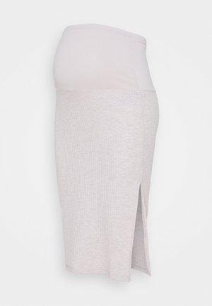 OLMNELLA SPLIT SKIRT  - Pencil skirt - oatmeal