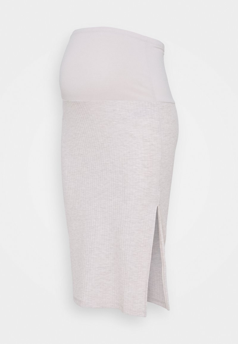 ONLY - OLMNELLA SPLIT SKIRT  - Pencil skirt - oatmeal