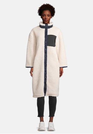 LONG PLÜSCH - Winter coat - rohweiß