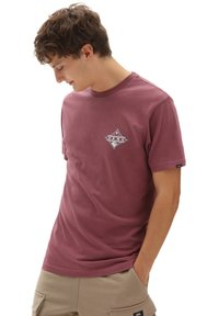 Vans - MN VINTAGE POINTED SHAPER SS - Print T-shirt - rhododendron - 0
