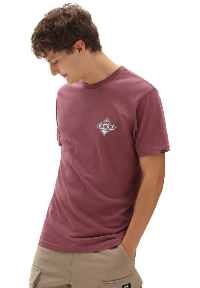 MN VINTAGE POINTED SHAPER SS - T-shirt con stampa - rhododendron