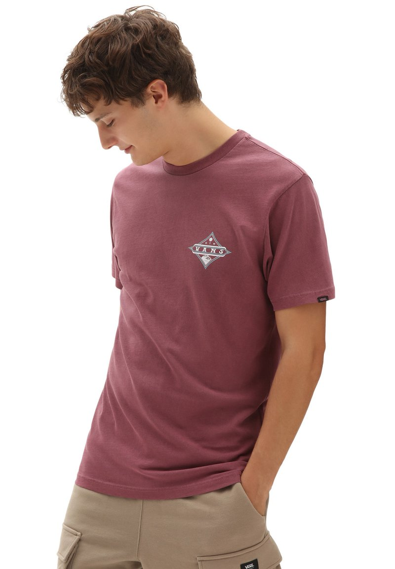Vans - MN VINTAGE POINTED SHAPER SS - Print T-shirt - rhododendron