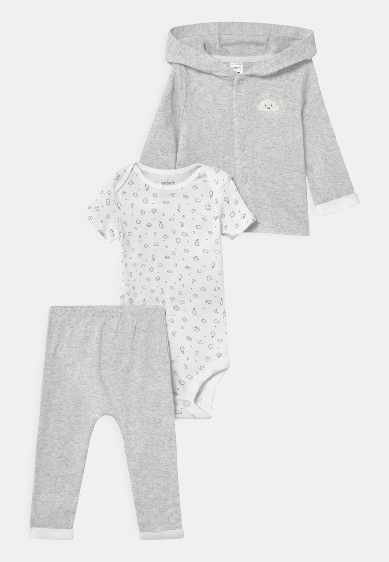 Carter's - SET UNISEX - T-shirt med print - mottled grey