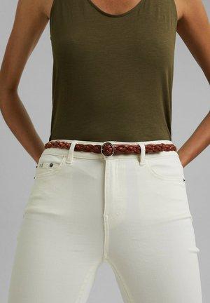 Braided belt - caramel