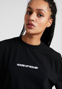 House of Holland - BLACK 'HOH' EMBROIDERED  - Print T-shirt - black - 3