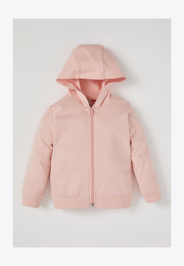 Hoodie met rits - pink