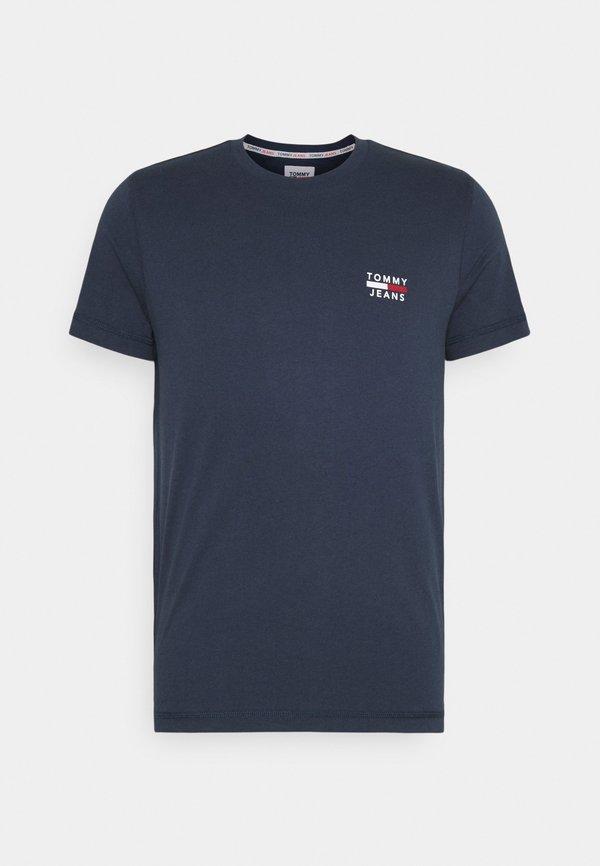 Tommy Jeans CHEST LOGO TEE - T-shirt z nadrukiem - twilight navy/granatowy Odzież Męska ABJU