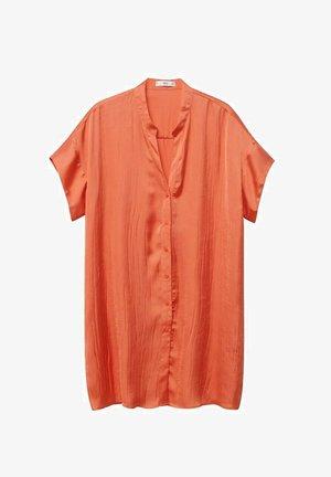 Button-down blouse - korallrot