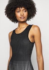 Milly - GODET STRIPE FIT AND FLARE - Cocktail dress / Party dress - black/multi - 3