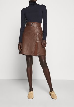 VENEZIA - A-line skirt - bronze