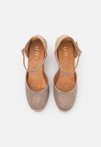 Unisa - CASTILLA - Platform sandals - taupe - 5