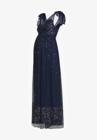 Maya Deluxe Maternity - TIE SHOULDER MAXI DRESS - Iltapuku - navy - 4