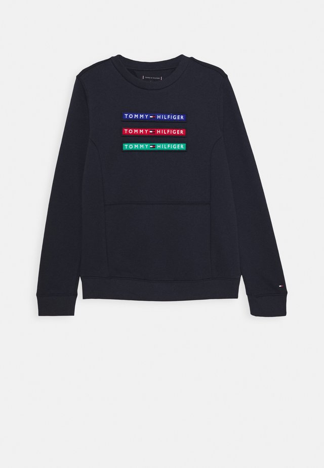 MULTI BADGE - Sweatshirt - blue