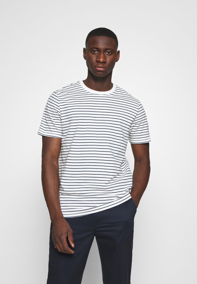 ONSMICK LIFE STRIPE TEE - Printtipaita - cloud dancer
