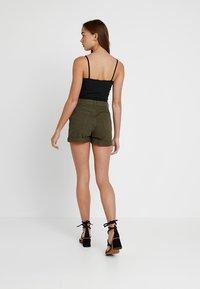 TWINTIP - Denim shorts - khaki - 2
