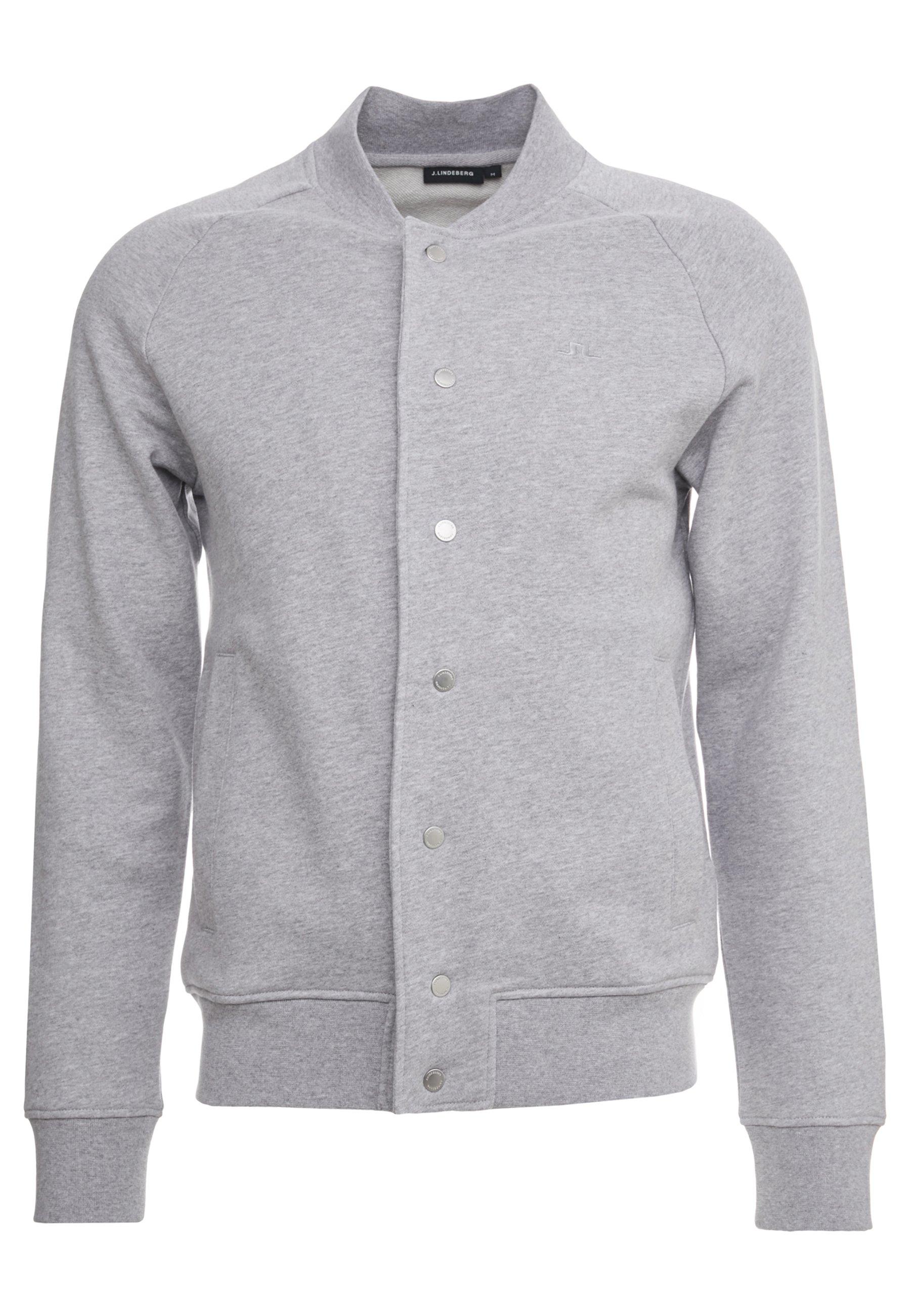 J.LINDEBERG JASPER  STRUCTURE - veste en sweat zippée - grey melange
