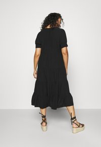 Forever New Curve - JADE CURVE TIERED SHIRT DRESS - Maxi dress - black - 2