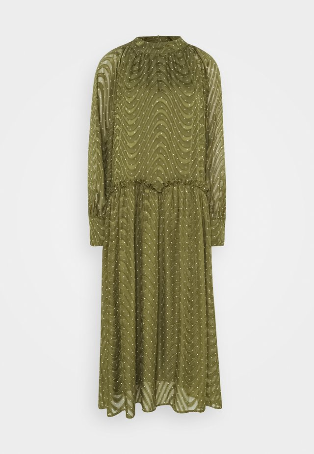 RATANA DRESS - Robe d'été - bronze green