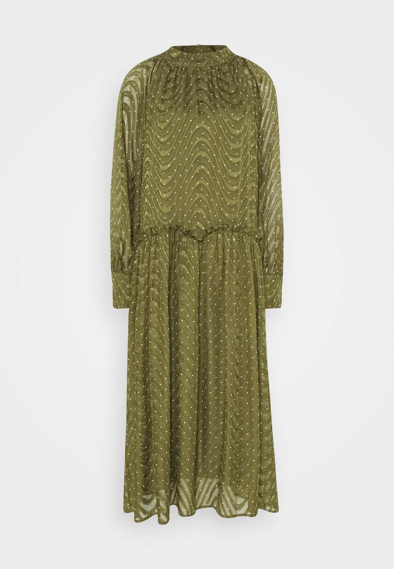 Love Copenhagen - RATANA DRESS - Korte jurk - bronze green
