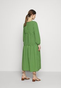 Topshop Maternity - SMOCK TIERED DRESS - Day dress - green/black - 2