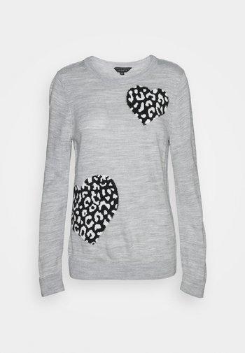 ANIMAL HEART JUMPER - Jumper - grey