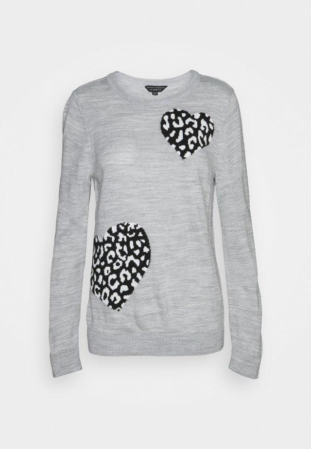 ANIMAL HEART JUMPER - Jersey de punto - grey