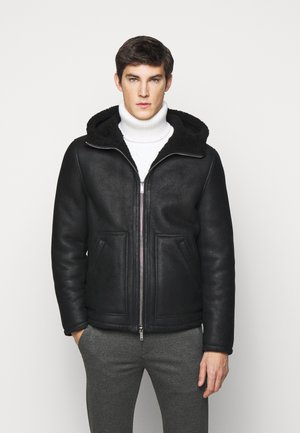 MONTONE - Leather jacket - black