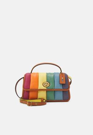 PRIDE ORIGINALS RAINBOW PUFFY QUILTED TURNLOCK - Handbag - natural multi