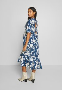Hope & Ivy Maternity - FLUTED SLEEVE SKATER DRESS - Day dress - navy