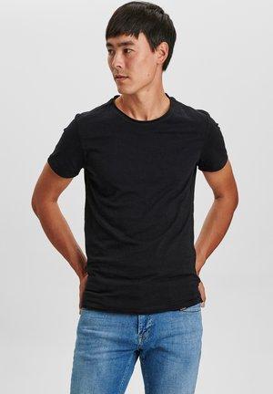 KONRAD SLUB S/S TEE - T-shirt basic - black