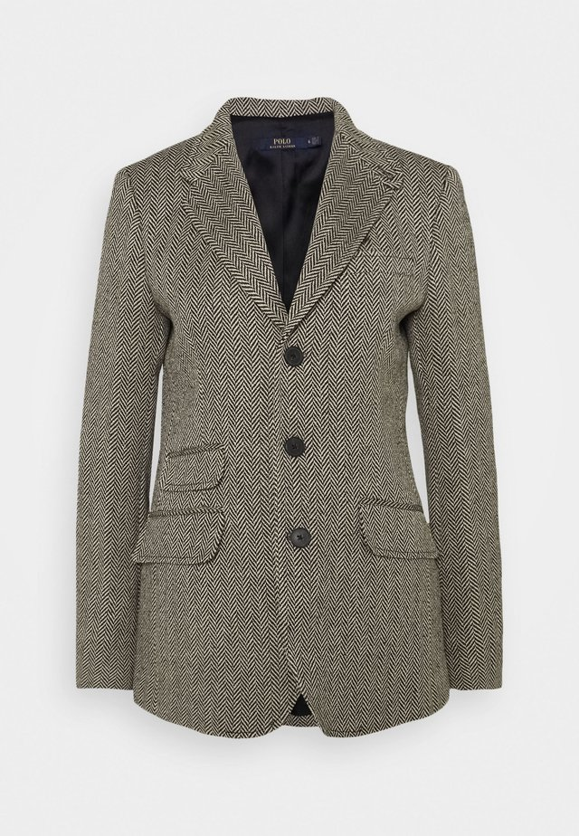 Manteau court - black/cream