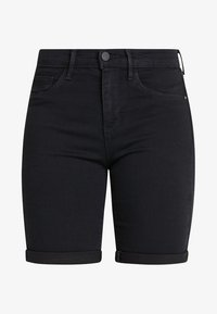 ONLY - ONLRAIN LIFE MID LONG - Denim shorts - black - 3
