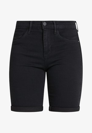 ONLRAIN LIFE MID LONG - Denim shorts - black