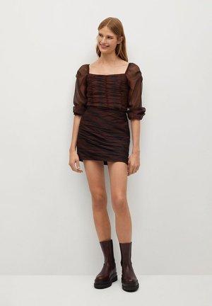 SOPHIE - Áčková sukně - bruin