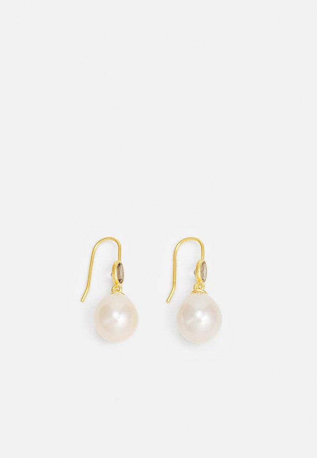 CALLAS EARRINGS - Korvakorut - gold-coloured/white