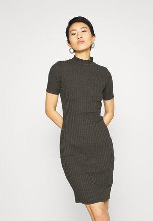 VENETIO SLIM FUNNEL DRESS 1\2 SL - Shift dress - asfalt