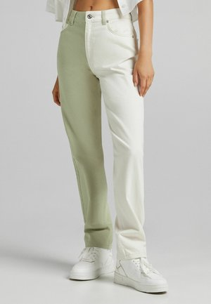 ZWEIFARBIGE IM - Jeans Straight Leg - khaki