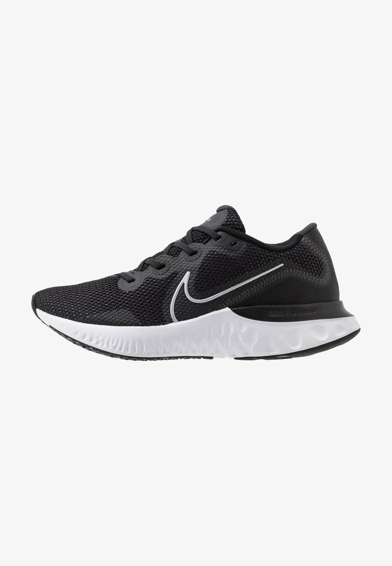 Nike Performance - RENEW RUN - Neutral running shoes - black/metallic silver/white/dark smoke grey/particle grey