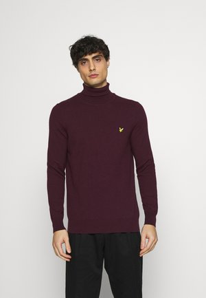 ROLL NECK JUMPER - Pullover - burgundy