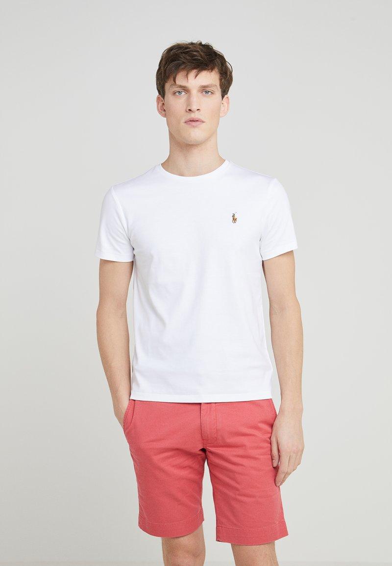 Polo Ralph Lauren - CUSTOM SLIM SOFT COTTON TEE - Basic T-shirt - white