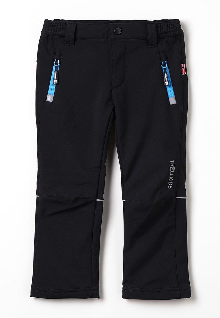 TrollKids - KIDS FJELL PANT - Długie spodnie trekkingowe - black