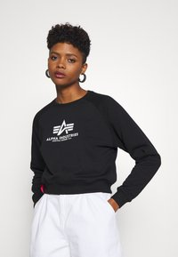 Alpha Industries - BOXY - Sweater - black - 3